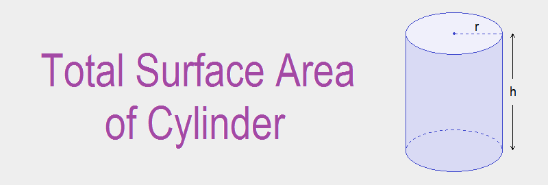 Total Surface Area of Cylinder