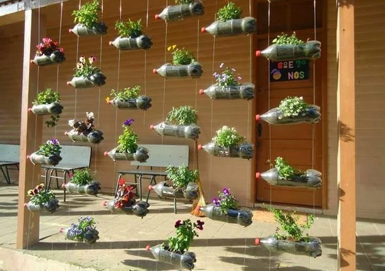 Desain Taman Dengan Barang Bekas  tagteam memanfaatkan barang bekas menjadi pot bunga unik