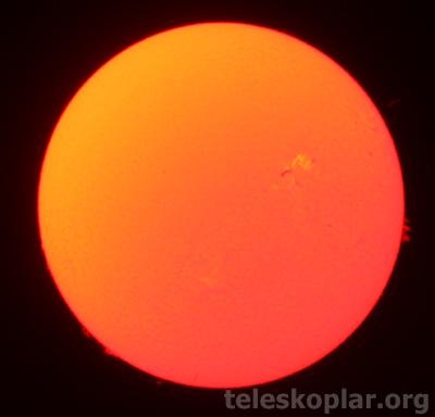 teleskop ile güneş gözlemi