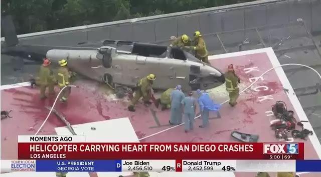 Ελικόπτερο που μεταφέρει καρδιά για μεταμόσχευση πέφτει στην ταράτσα του νοσοκομείου – Βίντεο
