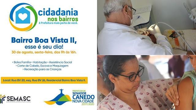 Senador Canedo: Cidadania nos Bairros terá atendimento completo de saúde