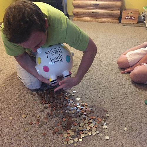 Piggy Bank full of change