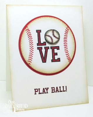 ODBD Baseball Stamp/Die Duos, ODBD Custom Double Stitched Circles Dies, ODBD Custom Circles Dies, ODBD Custom Stitched Ovals Dies, Card Designer Angie Crockett