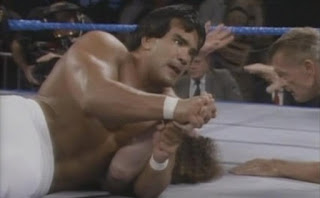 WWF / WWE WRESTLEMANIA 2 - Ricky Steamboat takes it to Hercules Hernandez