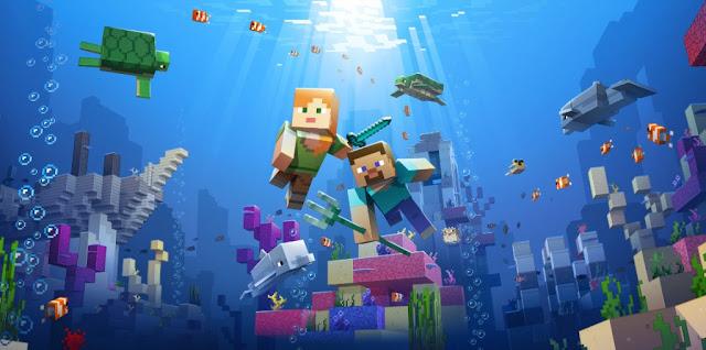 Minecraft Su Altı Görseli