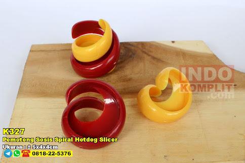 Pemotong Sosis Spiral Hotdog Slicer