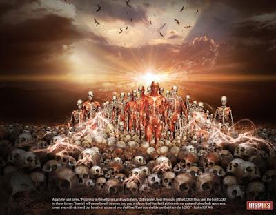 """La visione di Ezechiele """"La valle delle ossa secche"""""""