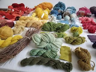 lana filati corso corsi tintura naturale  tessuto vegetale colori naturali