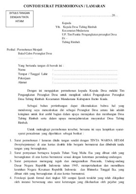 Surat Permohonan Menjadi Perangkat Desa .doc