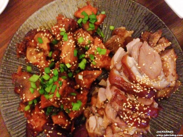 豬腳拼盤、原味與碳烤