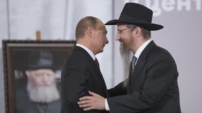 El presidente de Rusia, Vladimir Putin, se reúne con el conocido rabino Berel Lazar en Moscú (capital rusa), 13 de junio de 2013.