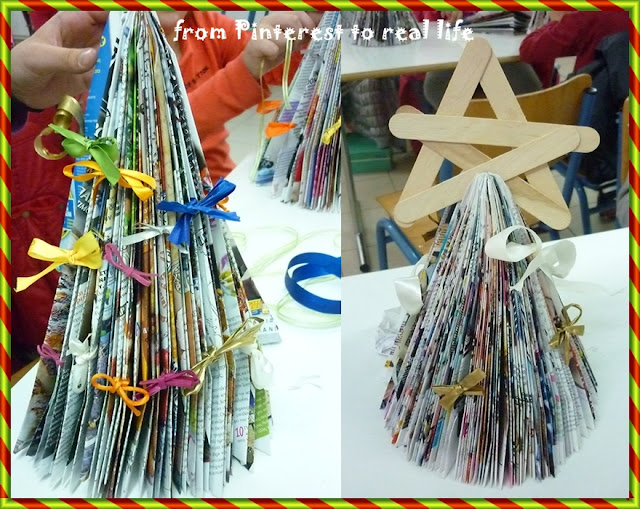 Χριστουγεννιάτικο δέντρο από περιοδικό / DIY magazine Christmas tree