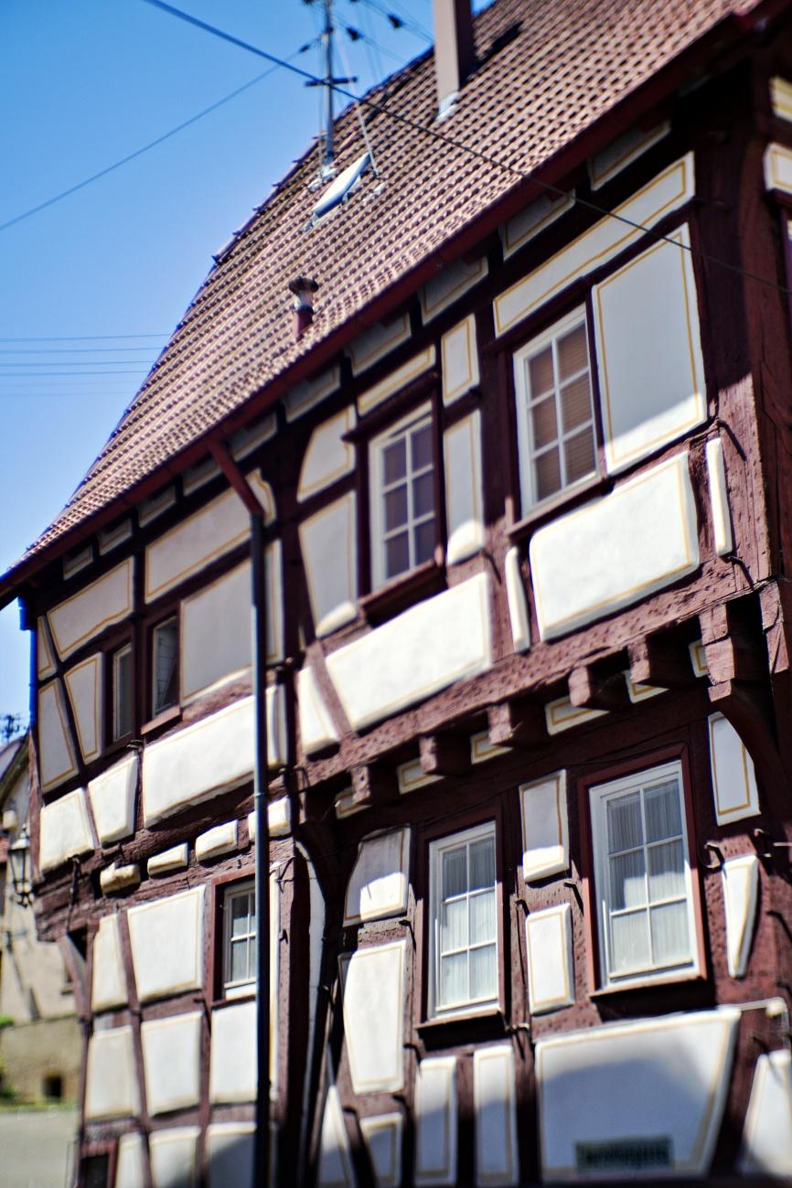 Fachwerkhaus in der Nürtinger Neckarsteige