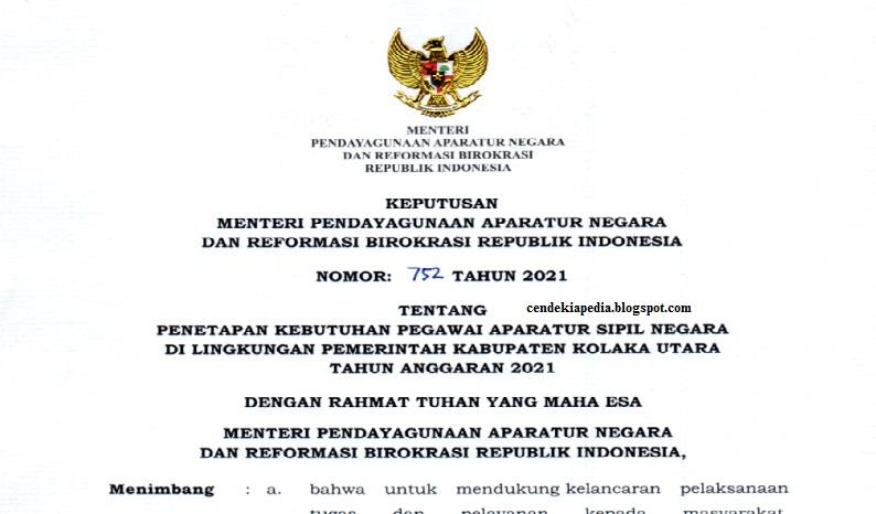Rincian Formasi CASN CPNS PPPK Kab Kolaka Utara Sulawesi ...