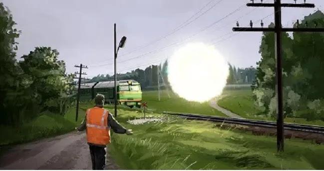 Ένα φωτεινό UFO έσερνε  και  δεν άφηνε να σταματήσει ένα φορτηγό τρένο για περισσότερο από μία ώρα