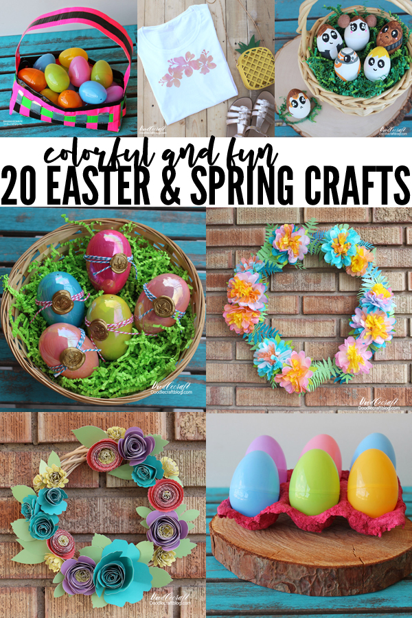 Brightly colored Easter and Spring crafts round up