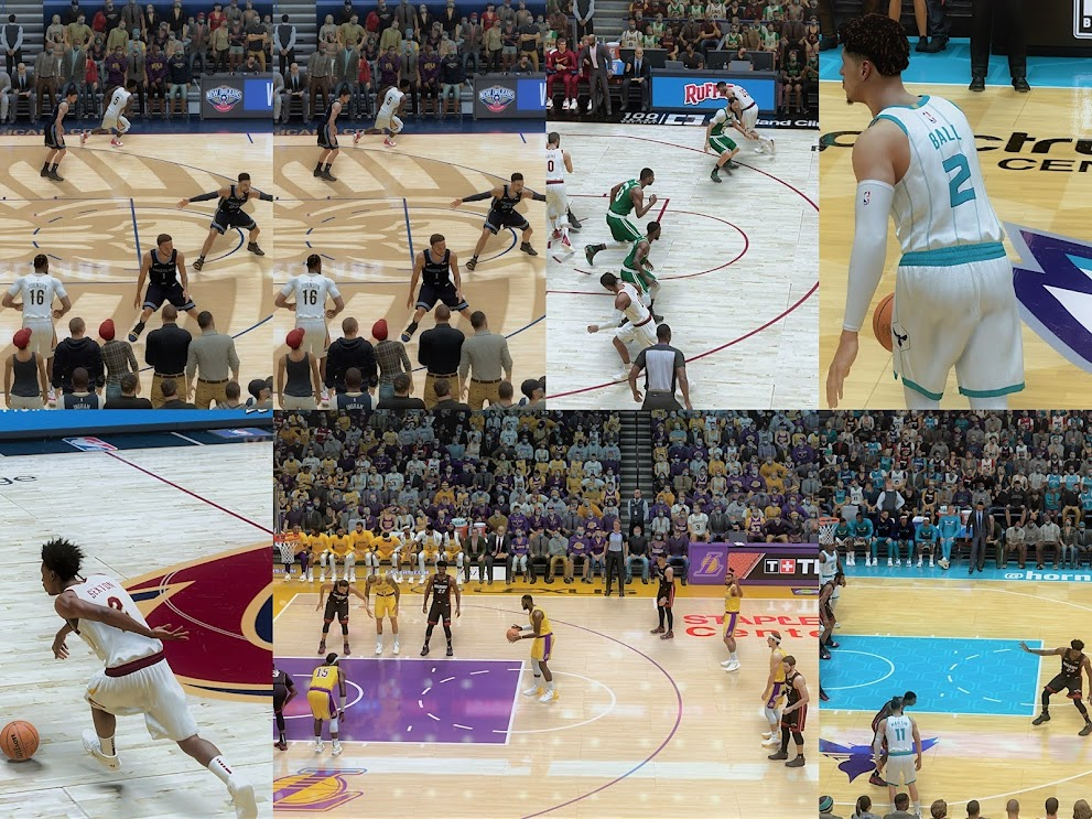 NBA 2K21 UNGAK REAL NA REAL LIGHTING 6 Team Pack (Cavs, Hornets, Lakers, Pelicans, Suns, Warriors) by Joseph Elopre