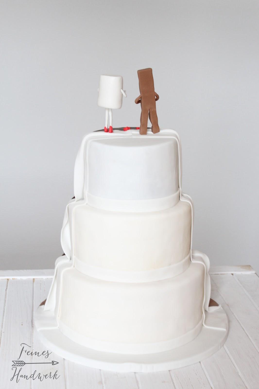 Feines Handwerk Kinderriegel Hochzeitstorte Plus Rezept Fur