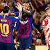 Girona y el Barcelona empataron 2 a 2