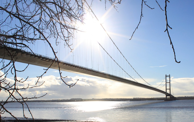 The Humber Bridge on a sunny day