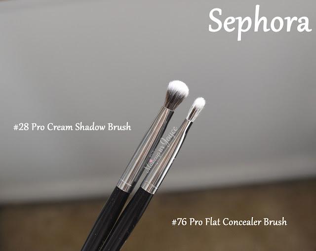 Sephora Pro #28 Cream Shadow #76 Flat Concealer Brush Review