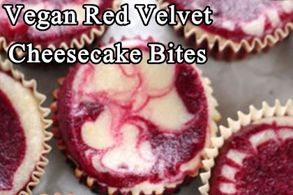 Vegan Red Velvet Cheesecake Bites
