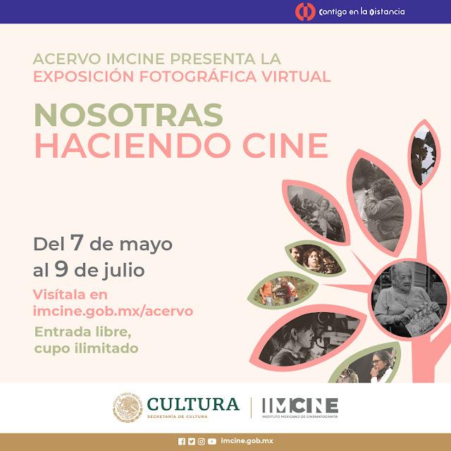 Primera exposición virtual del IMCINE, muestra fotografías de realizadoras del cine mexicano