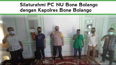Bahas Sinergitas Program, Kapolres Sambangi Kediaman Ketua PCNU Bone Bolango
