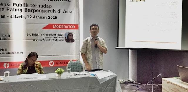 LSI: Ada Pengaruh China Dan AS Saat Pilpres 2019