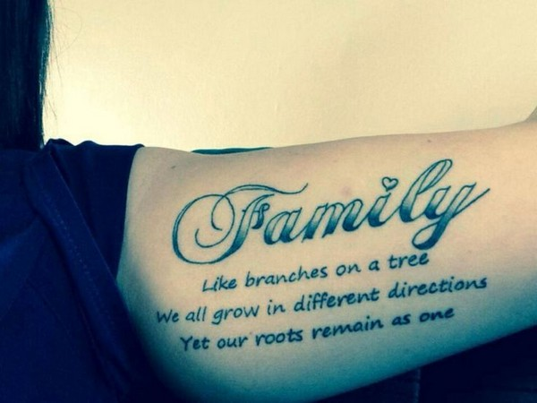 Family Quotes Tattoo For Girls