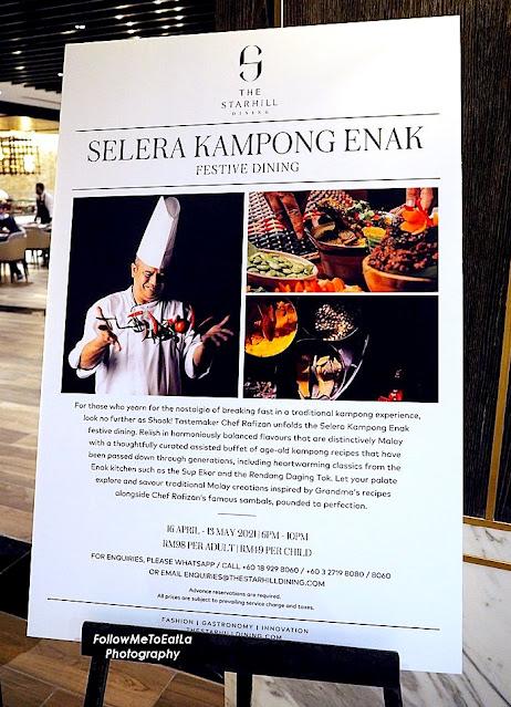 THE STARHILL DINING Offers Ramadan Buffet 2021 'Selera Kampong Enak Festive Dining' At SHOOK!
