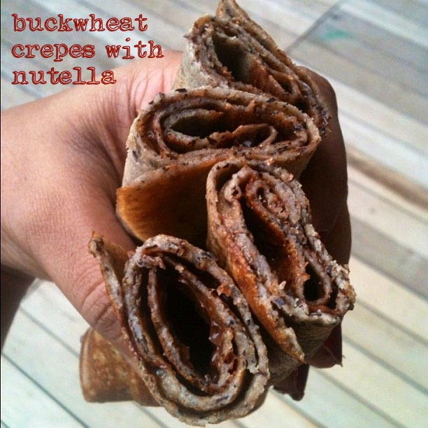 There's another indulgent way to eat buckwheat crepes ...
