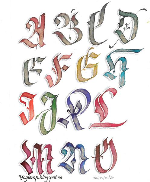 http://yogiemp.com/Calligraphy/Artwork/BlackletterMajiscules_AtoO.html