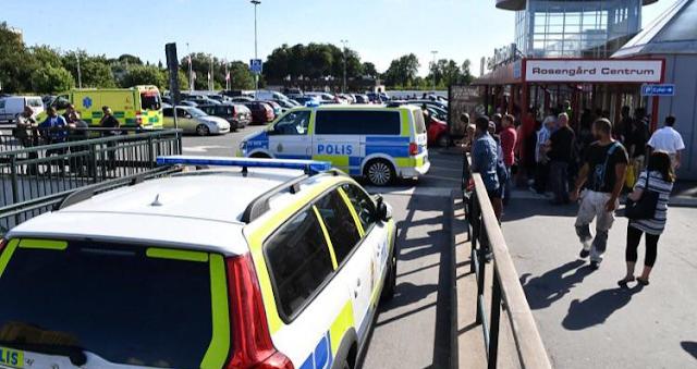 Un hombre armado abre fuego en un centro comercial en Suecia
