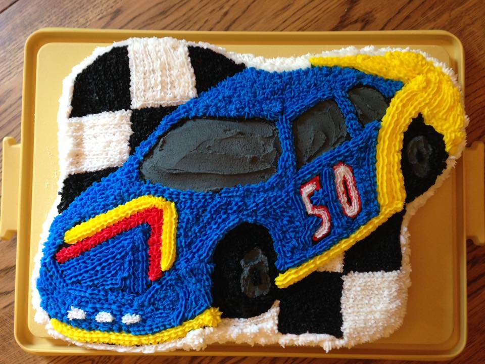 Happy 50th Birthday To My Husband Of 21 Years I Made This Cake For Him With The Wilton Race Car Pan From Mixing Batter Tidying