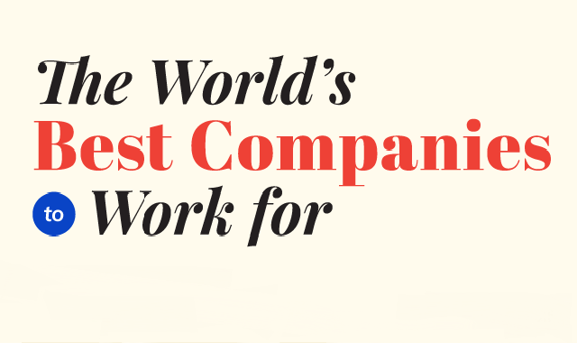 The World's best Companies to Work For #Infographic
