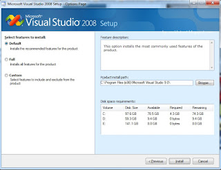 Instal Visual Studio 2008 pada Windows 7/8