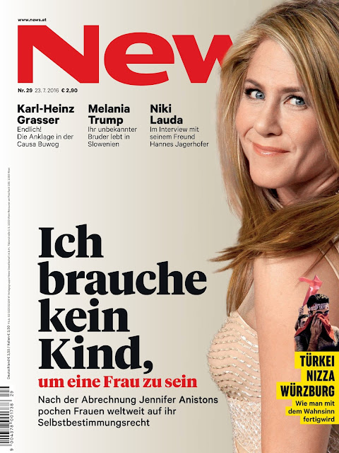 Actress, @ Jennifer Aniston - News Magazine Germany July 2016