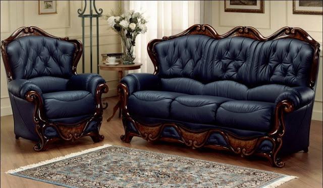 sofa gỗ cổ điên