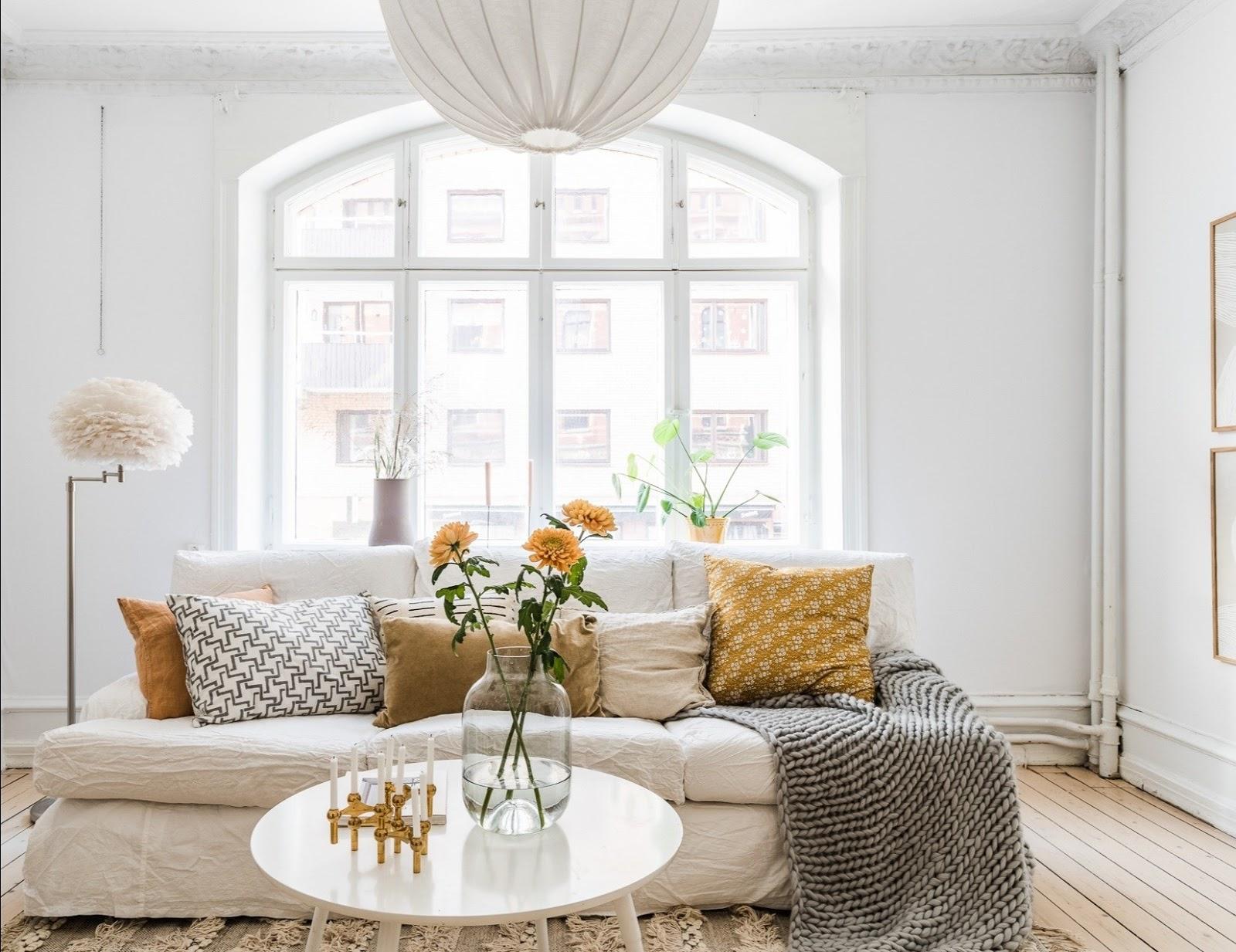 Spring spirit for a Scandinavian apartment