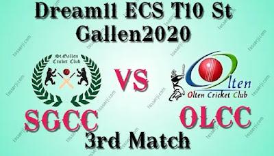 Who will win SGCC vs OLCC 3rd T10 Match