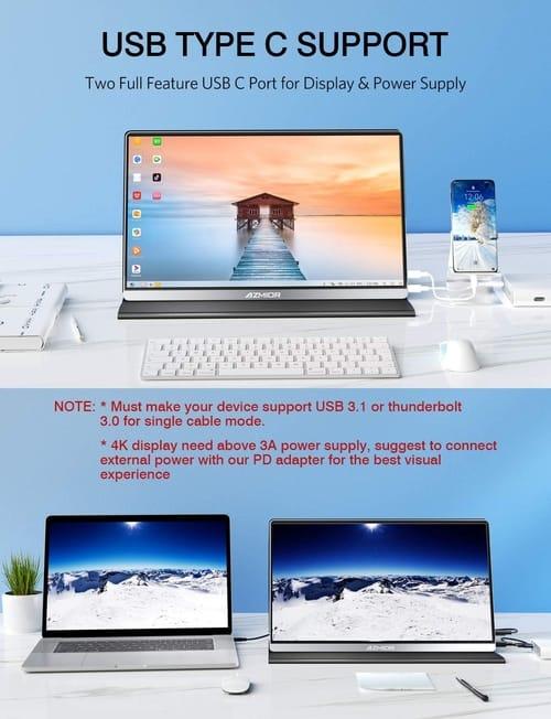 Review AZMIOR AM01 4K UHD Portable Monitor