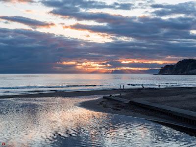 Sunset glow: Yuigahama-beach
