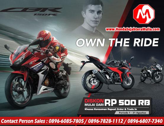 Promo Agustus Spesial Diskon CBR150R Dealer Honda Sejahtera Mulia Cirebon