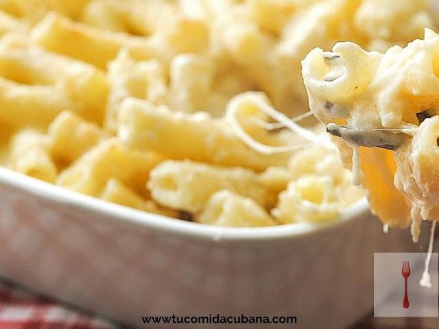 ✔️ Macarrones con queso - Receta Cubana