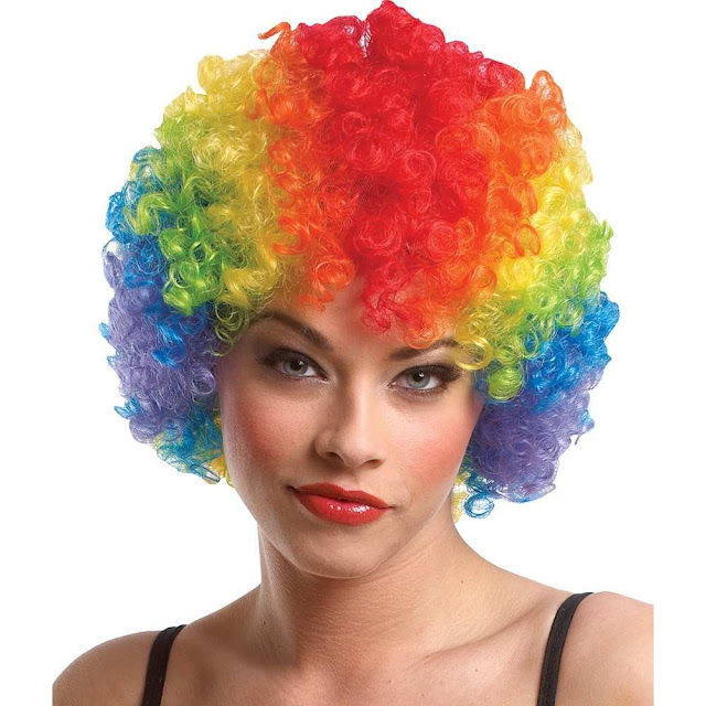 Balloonistics Rainbow Clown Party Wig
