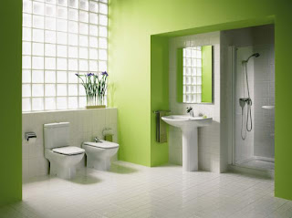 baño color verde
