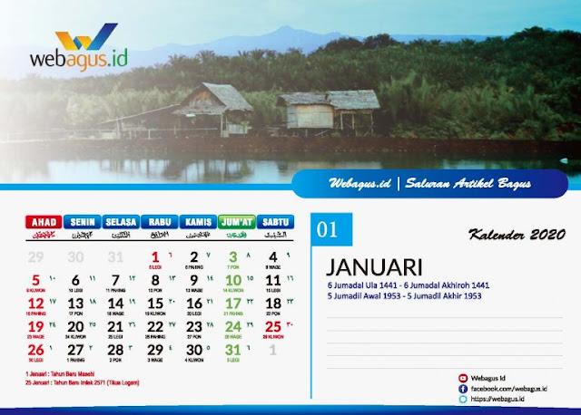 kalender meja webagus jan