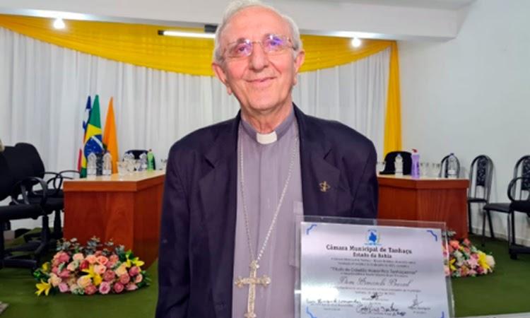 Bispo Diocesano Dom Armando Bucciol recebeu título de Cidadão Honorifico Tanhaçuense