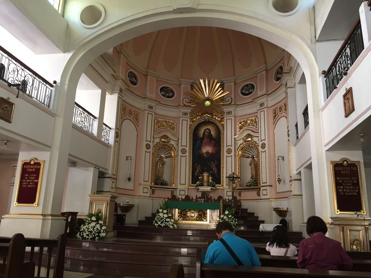 The altar of the National Shrine of the Sacred Heart of Jesus